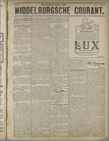 Middelburgsche Courant 1921-04-11