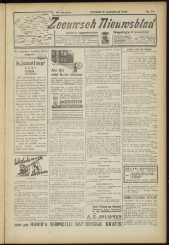 Zeeuwsch Nieuwsblad/Wegeling's Nieuwsblad 1935-08-16