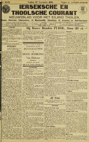 Ierseksche en Thoolsche Courant 1931-11-27