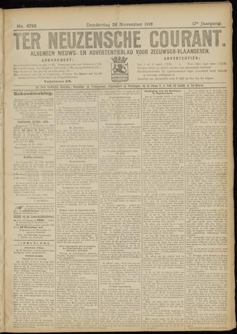 Ter Neuzensche Courant. Algemeen Nieuws- en Advertentieblad voor Zeeuwsch-Vlaanderen / Neuzensche Courant ... (idem) / (Algemeen) nieuws en advertentieblad voor Zeeuwsch-Vlaanderen 1918-11-28
