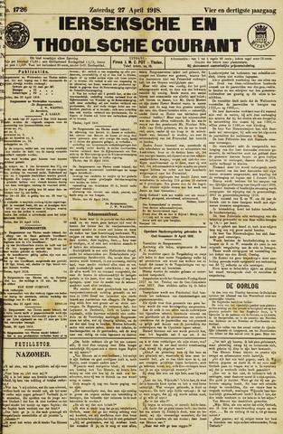Ierseksche en Thoolsche Courant 1918-04-27