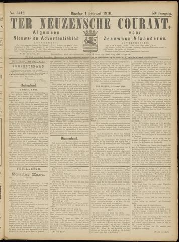 Ter Neuzensche Courant. Algemeen Nieuws- en Advertentieblad voor Zeeuwsch-Vlaanderen / Neuzensche Courant ... (idem) / (Algemeen) nieuws en advertentieblad voor Zeeuwsch-Vlaanderen 1910-02-01
