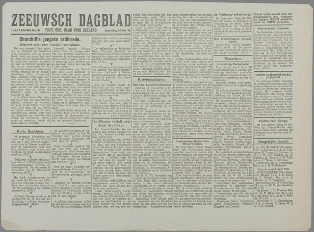 Zeeuwsch Dagblad 1945-05-14