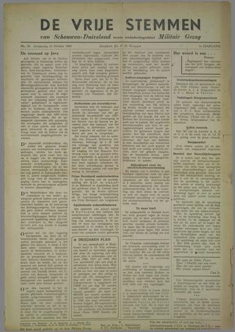 Vrije Stemmen van Schouwen-Duiveland, tevens mededeelingenblad Militair Gezag 1945-10-25