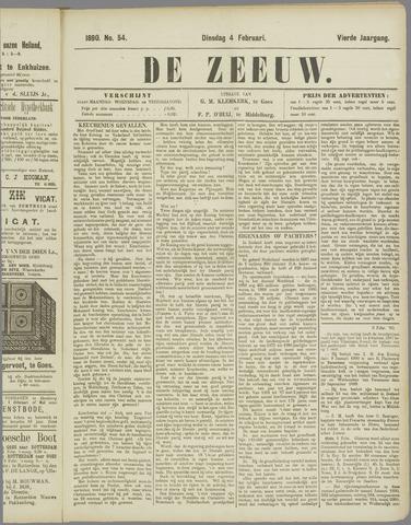 De Zeeuw. Christelijk-historisch nieuwsblad voor Zeeland 1890-02-04