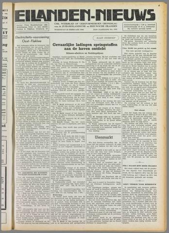 Eilanden-nieuws. Christelijk streekblad op gereformeerde grondslag 1949-02-23