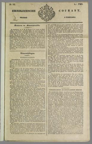Zierikzeesche Courant 1844-02-09