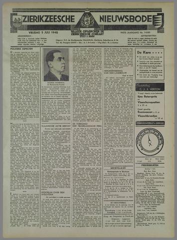 Zierikzeesche Nieuwsbode 1940-07-05