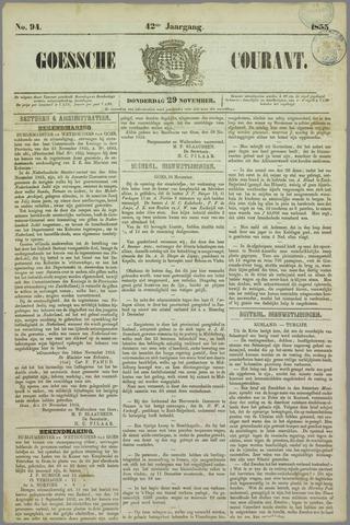 Goessche Courant 1855-11-29