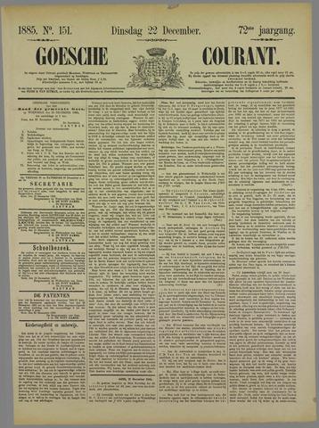 Goessche Courant 1885-12-22