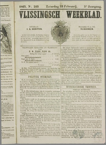 Vlissings Weekblad 1867-02-23