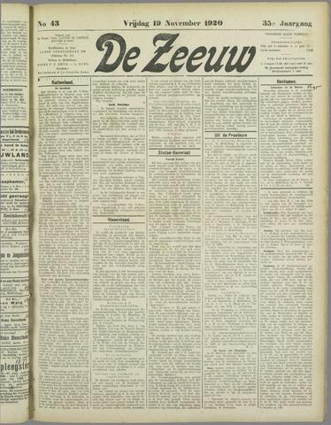 De Zeeuw. Christelijk-historisch nieuwsblad voor Zeeland 1920-11-19