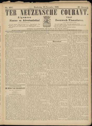 Ter Neuzensche Courant. Algemeen Nieuws- en Advertentieblad voor Zeeuwsch-Vlaanderen / Neuzensche Courant ... (idem) / (Algemeen) nieuws en advertentieblad voor Zeeuwsch-Vlaanderen 1898-11-10