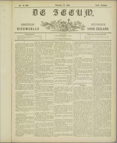 De Zeeuw. Christelijk-historisch nieuwsblad voor Zeeland 1896-04-30