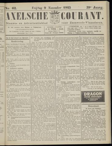 Axelsche Courant 1923-11-09