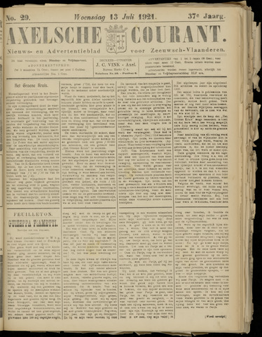 Axelsche Courant 1921-07-13