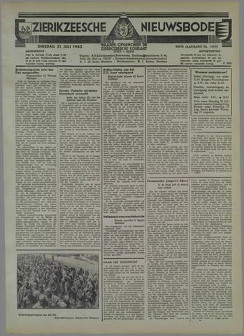 Zierikzeesche Nieuwsbode 1942-07-21