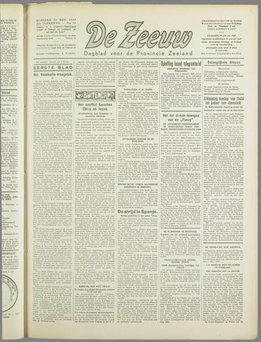 De Zeeuw. Christelijk-historisch nieuwsblad voor Zeeland 1937-12-21