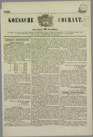 Goessche Courant 1852-10-18