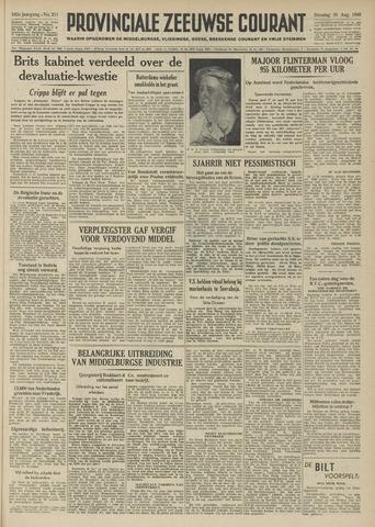 Provinciale Zeeuwse Courant 1949-08-30