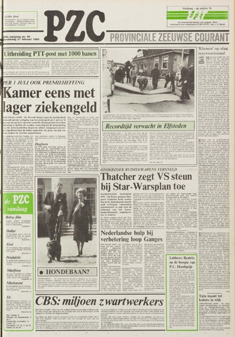 Provinciale Zeeuwse Courant 1985-02-21