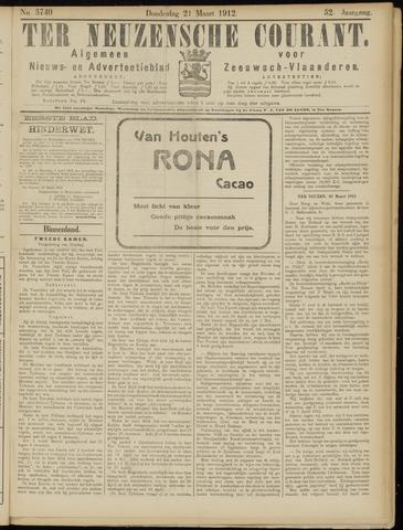 Ter Neuzensche Courant. Algemeen Nieuws- en Advertentieblad voor Zeeuwsch-Vlaanderen / Neuzensche Courant ... (idem) / (Algemeen) nieuws en advertentieblad voor Zeeuwsch-Vlaanderen 1912-03-21