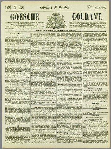 Goessche Courant 1896-10-10
