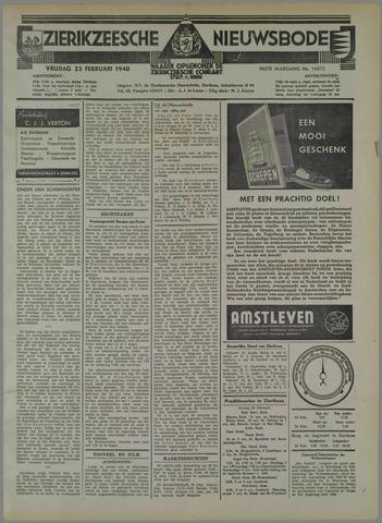 Zierikzeesche Nieuwsbode 1940-02-23