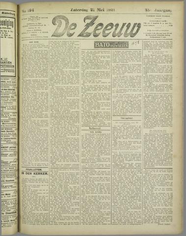 De Zeeuw. Christelijk-historisch nieuwsblad voor Zeeland 1921-05-21