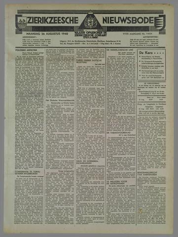 Zierikzeesche Nieuwsbode 1940-08-26