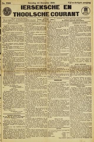 Ierseksche en Thoolsche Courant 1918-12-14