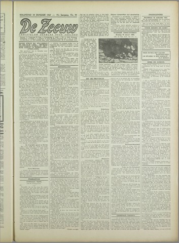 De Zeeuw. Christelijk-historisch nieuwsblad voor Zeeland 1943-01-18