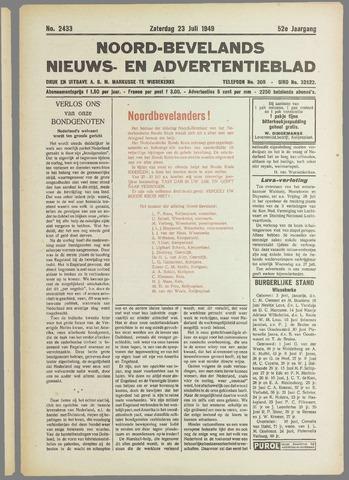 Noord-Bevelands Nieuws- en advertentieblad 1949-07-23