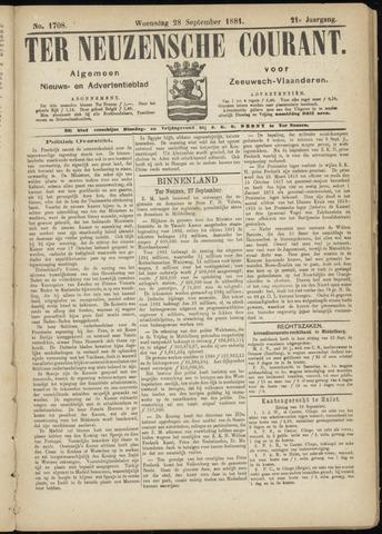 Ter Neuzensche Courant. Algemeen Nieuws- en Advertentieblad voor Zeeuwsch-Vlaanderen / Neuzensche Courant ... (idem) / (Algemeen) nieuws en advertentieblad voor Zeeuwsch-Vlaanderen 1881-09-28
