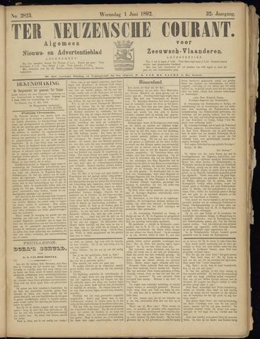 Ter Neuzensche Courant. Algemeen Nieuws- en Advertentieblad voor Zeeuwsch-Vlaanderen / Neuzensche Courant ... (idem) / (Algemeen) nieuws en advertentieblad voor Zeeuwsch-Vlaanderen 1892-06-01
