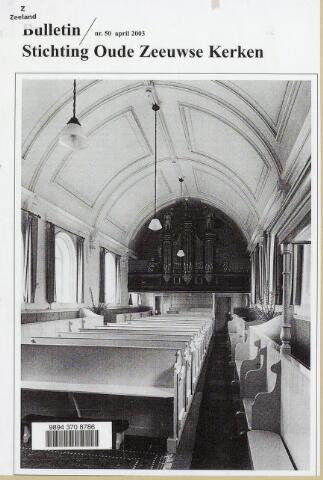 Bulletin Stichting Oude Zeeuwse kerken 2003-04-01