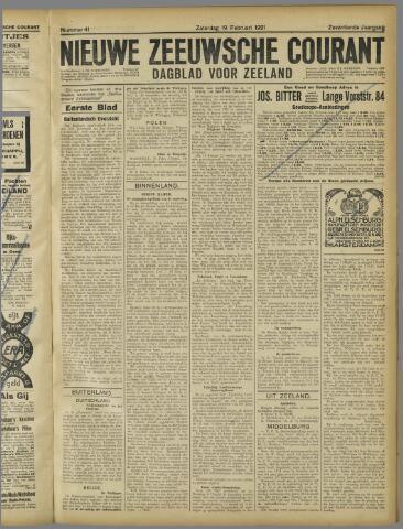 Nieuwe Zeeuwsche Courant 1921-02-19