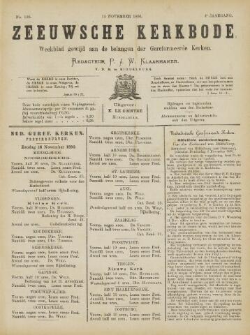 Zeeuwsche kerkbode, weekblad gewijd aan de belangen der gereformeerde kerken/ Zeeuwsch kerkblad 1890-11-15