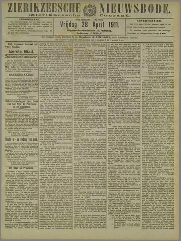 Zierikzeesche Nieuwsbode 1911-04-28