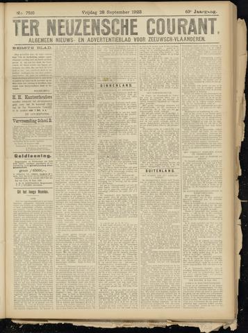 Ter Neuzensche Courant. Algemeen Nieuws- en Advertentieblad voor Zeeuwsch-Vlaanderen / Neuzensche Courant ... (idem) / (Algemeen) nieuws en advertentieblad voor Zeeuwsch-Vlaanderen 1923-09-28