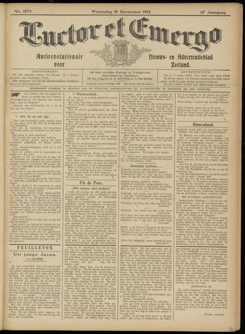 Luctor et Emergo. Antirevolutionair nieuws- en advertentieblad voor Zeeland / Zeeuwsch-Vlaanderen. Orgaan ter verspreiding van de christelijke beginselen in Zeeuwsch-Vlaanderen 1915-11-10