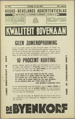 Noord-Bevelands Nieuws- en advertentieblad 1932-06-25