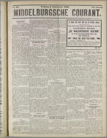 Middelburgsche Courant 1922-12-08