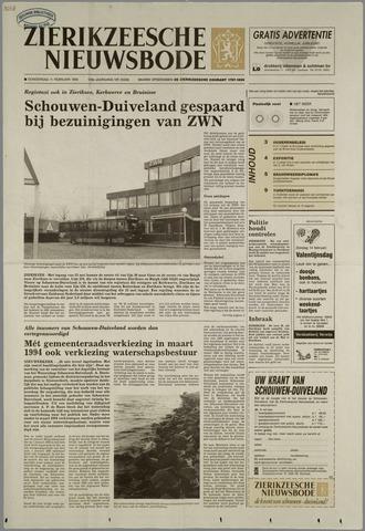 Zierikzeesche Nieuwsbode 1993-02-11