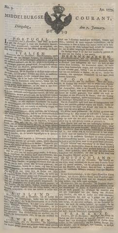 Middelburgsche Courant 1777-01-07