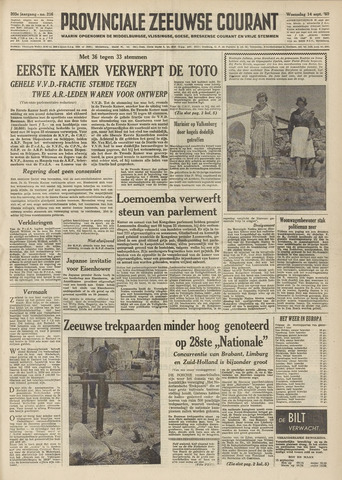 Provinciale Zeeuwse Courant 1960-09-14