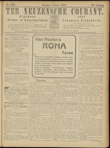 Ter Neuzensche Courant. Algemeen Nieuws- en Advertentieblad voor Zeeuwsch-Vlaanderen / Neuzensche Courant ... (idem) / (Algemeen) nieuws en advertentieblad voor Zeeuwsch-Vlaanderen 1912-10-01
