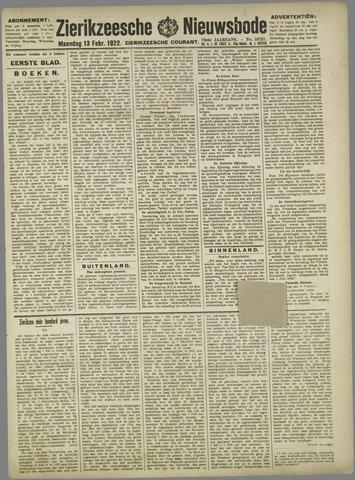 Zierikzeesche Nieuwsbode 1922-02-13