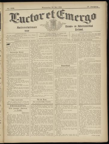 Luctor et Emergo. Antirevolutionair nieuws- en advertentieblad voor Zeeland / Zeeuwsch-Vlaanderen. Orgaan ter verspreiding van de christelijke beginselen in Zeeuwsch-Vlaanderen 1916-05-24