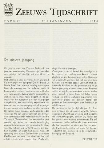 Zeeuws Tijdschrift 1964-01-01